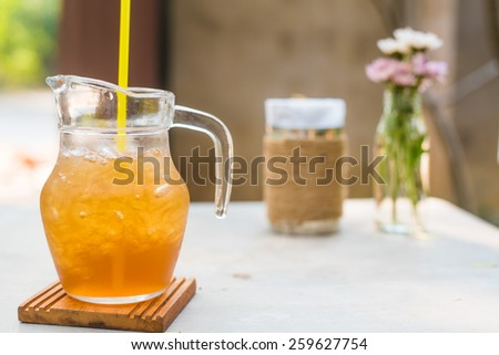 ice tea on table