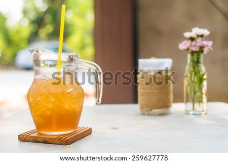 ice tea on table - stock photo