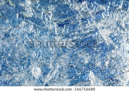 Ice texture, full frame/ background - stock photo