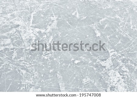 Ice white surface in the field in winter - stock photo