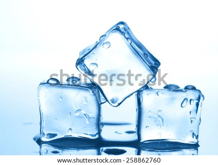 Ice with water drops   - stock photo