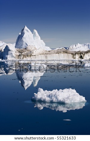 Iceberg and its reflexion