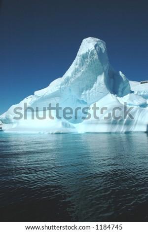 Iceberg, Antarctica - stock photo