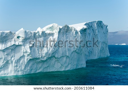 Iceberg at Disko Bay, Ilulissat, Greenland - stock photo