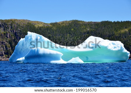 Iceberg, Cape Bonavista Newfoundland Canada - stock photo