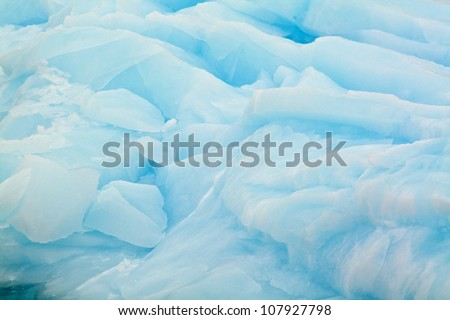 Iceberg closeup in antarctica - stock photo