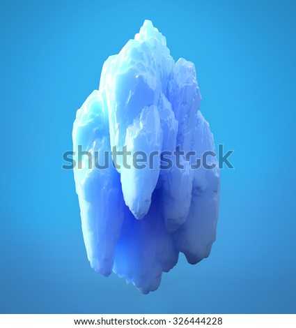 iceberg 3d illustration - stock photo