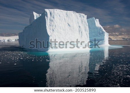 Iceberg floating in Antarctica