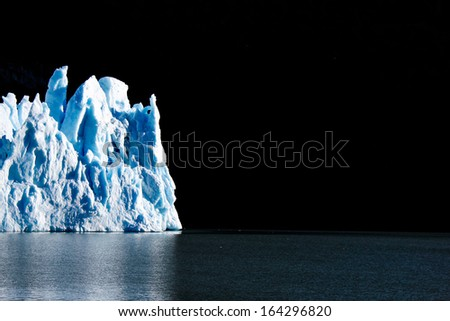 Iceberg Glacier in National Park - stock photo
