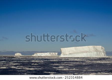Iceberg in Antactica - stock photo