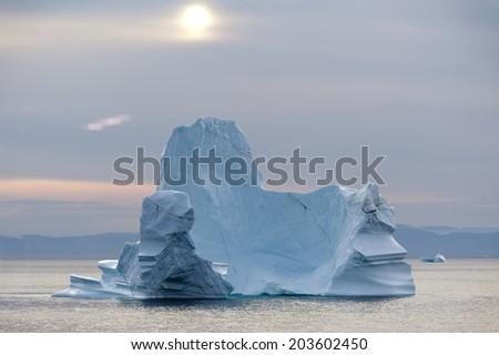 Iceberg in Disko Bay, Ilulissat, Greenland - stock photo