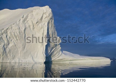 Iceberg in Scoresbysund in eastern Greenland - stock photo