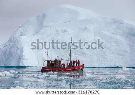 Iceberg in the Arctic - stock photo