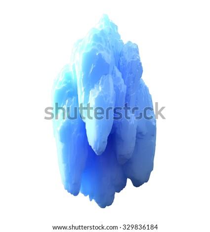 iceberg isolated on white background - stock photo