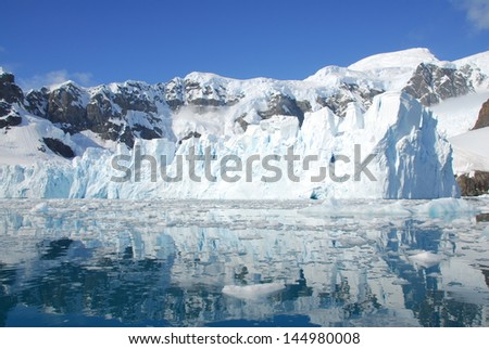 Iceberg off cost of Antarctica - stock photo