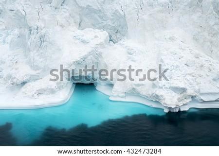 Iceberg on arctic ocean in Greenland - stock photo