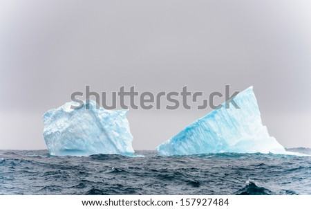 Iceberg over the ocean