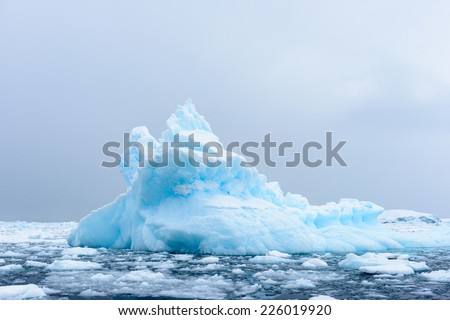 Icebergs in Antarctica - stock photo