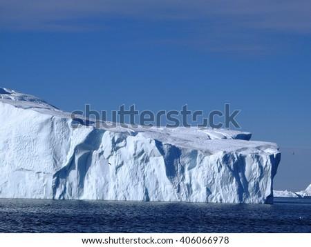 Icebergs in Greenland - stock photo