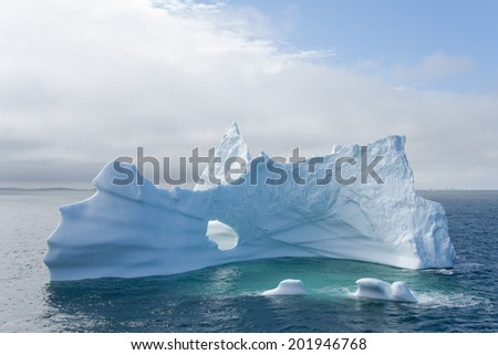 Icebergs of polar regions, Greenland - stock photo