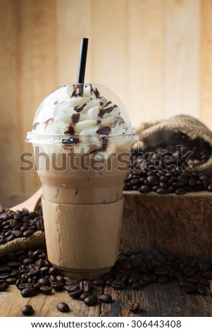 iced blended frappucino - stock photo