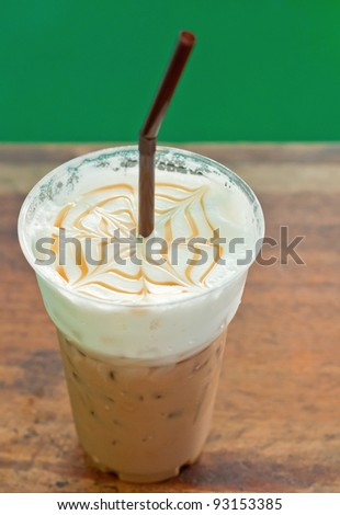 iced coffee in cafe - stock photo