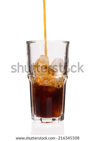 Iced Coffee isolated on a white background closeup