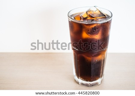 Iced cola glass or soft drink glass
