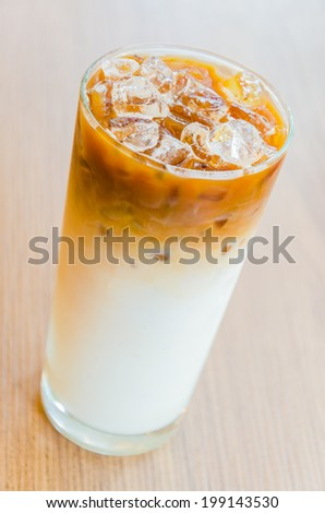 Iced latte coffee - stock photo