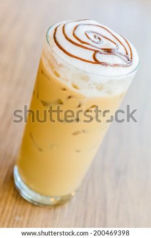 Iced mocha coffee - stock photo