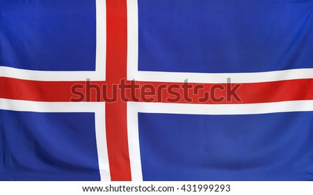 Iceland Flag real fabric seamless close up