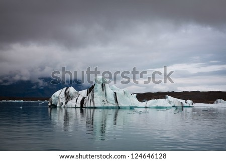 Iceland Glacier Lagoon - stock photo