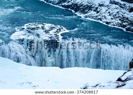 Iceland Glacier Waterfall