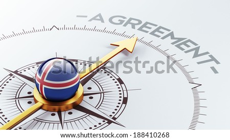 Iceland High Resolution Agreement Concept - stock photo