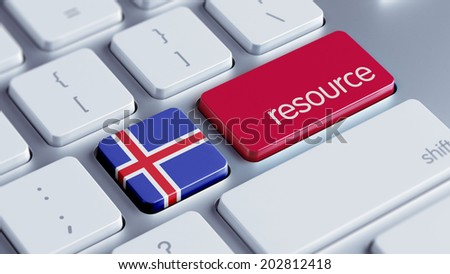 Iceland High Resolution Resource Concept - stock photo
