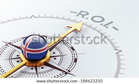 Iceland High Resolution ROI Concept - stock photo