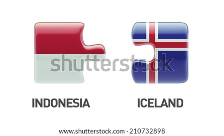 Iceland Indonesia High Resolution Puzzle Concept