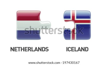 Iceland Netherlands High Resolution Puzzle Concept