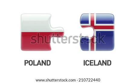Iceland Poland High Resolution Puzzle Concept