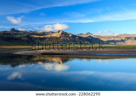 Iceland, reflection in a lake