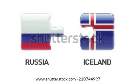 Iceland Russia High Resolution Puzzle Concept