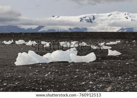 Iceland (Summer) - the beach at the mouth of the great glacial lake jokulsarlon: Diamond Beach