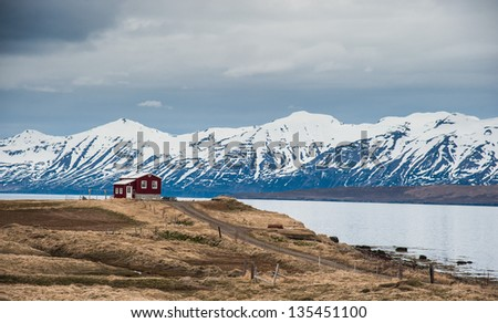 Iceland typical landscape - stock photo