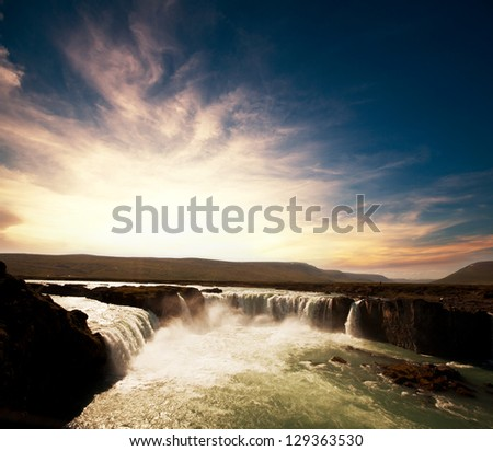 icelandic dramatic landscapes - stock photo