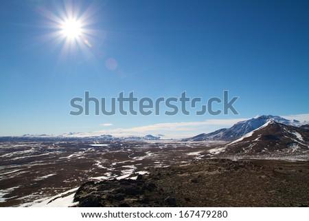icelandic highlands - stock photo