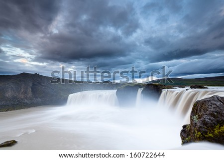 Icelandic waterfall Godafoss - stock photo