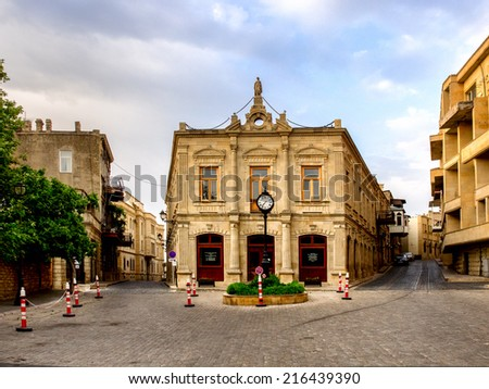 Icheri Sheher (Old Town) of Baku, Azerbaijan - stock photo