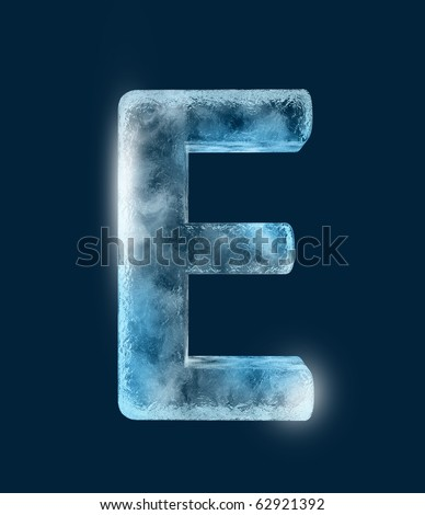 Icing alphabet the letter E - stock photo