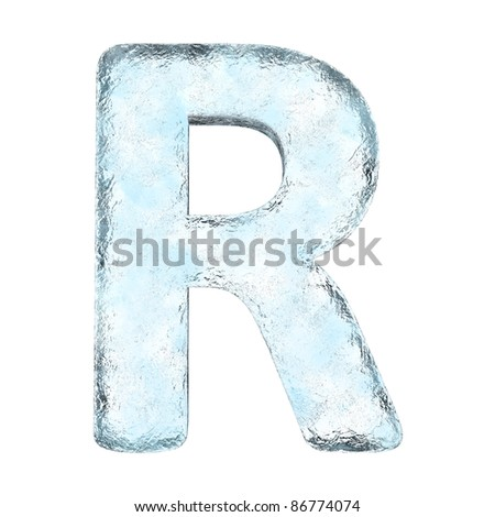 Icing alphabet the letter R (High definition isolated on white)