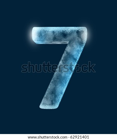 Icing alphabet the number 7 - stock photo
